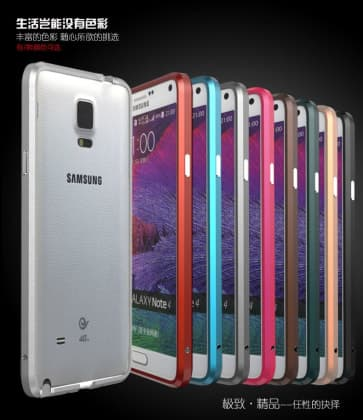 Luphie Galaxy Note 4 Protective Layers Stealth Bumper Metal Case