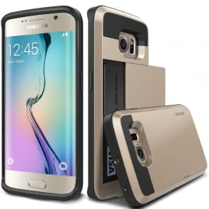 Verus Gold Galaxy S6 Edge Case Damda Card Slide Series
