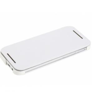 Rock Elegant Leather HTC One M8 Flip Stand Case White