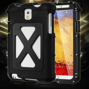 Armor King Aluminum Metal Brushed Stainless Steel Case for Samsung Galaxy Note 2